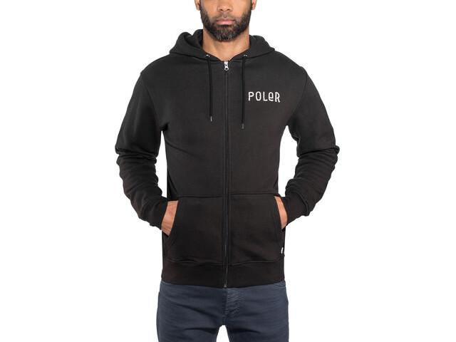 POLER Psychedelic Veste à capuche zippée Homme, black